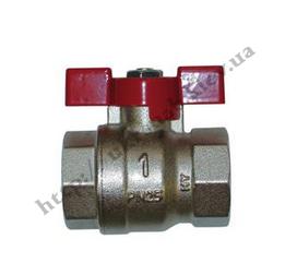 Кран шаровый (бабочка) для воды со стандартным проходом — IVR 918-А В/В DN 1/2″-1″