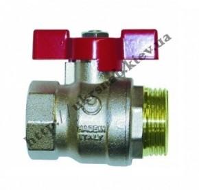 Кран шаровый (бабочка) для воды со стандартным проходом — IVR 919-А В/Н DN 1/2″-1″